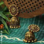 Bronzy Jumbo Jhumkhas From Rimli Boutique