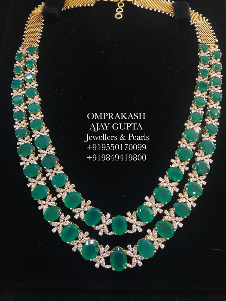 Elegant Diamond Necklace From Om Prakash Jewellers And Pearls