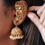Peacock Design Ear-Cuff Jhumkas From Accessory Villa