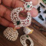 Shiny Earrings From Kruthika Jewellery