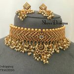 Stylish Choker Set From Shree Designs.