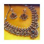 Traditional Matte Gold Guttapusalu Necklace From Nakshatra By Sha