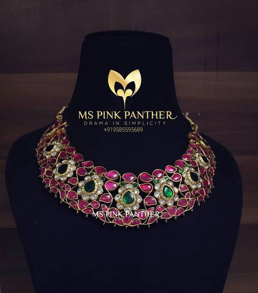 Trendy German Silver Necklace From Ms Pink Panthers