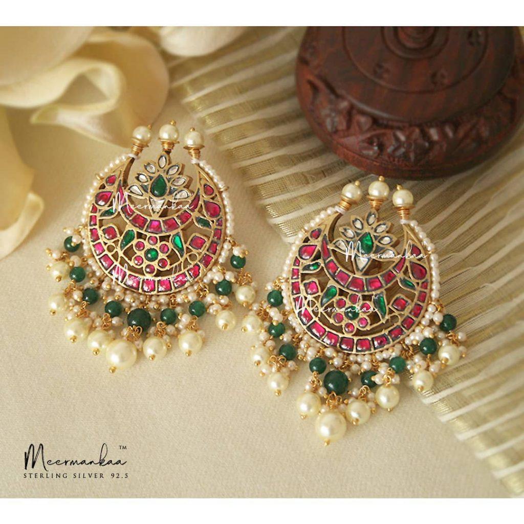 Beautiful Silver Earrings From Meermankaa