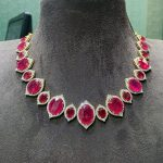 Charming Diamond Necklace From P Satyanarayan And Sons