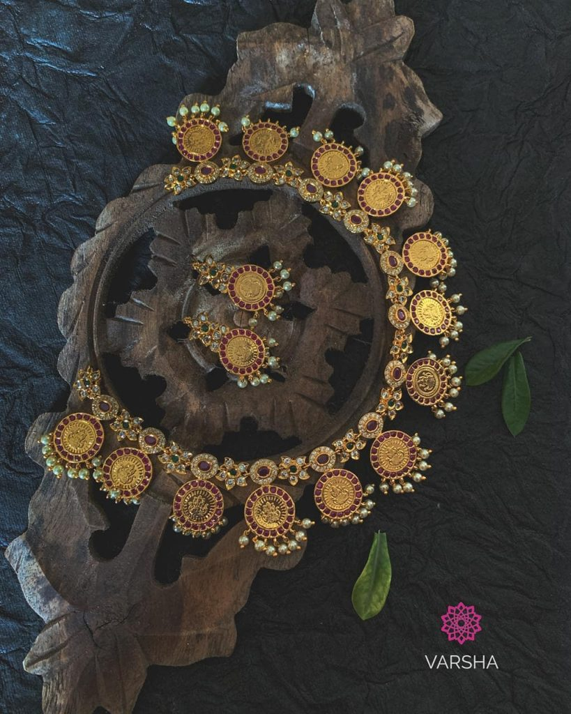 Ethnic Temple Necklace From Varsha Beadschicz