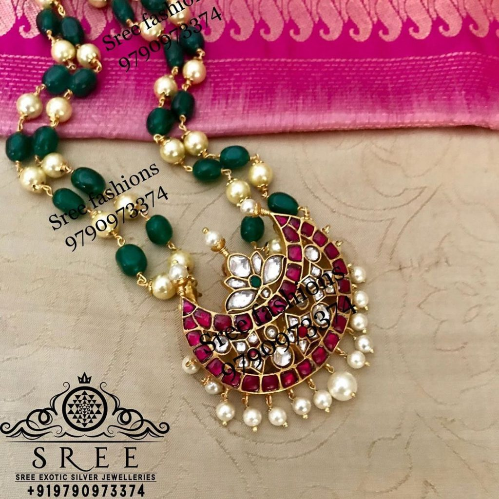Eye Catching Silver Necklace From Sree Exotic Silver Jewelleries