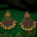 Mahalakshmi Kemp Chandbali Earrings From Happy Pique