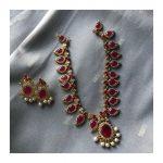 Traditional Kerala Palakka Short Necklace From Kattam