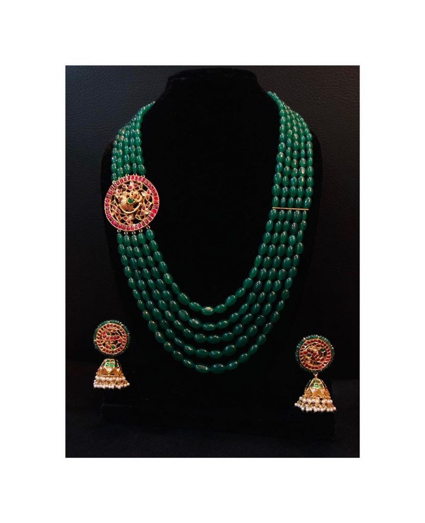Amazing Emerald Necklace Set From Aarni By Shravani