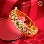 Antique Gold Bangle From Manubhai Jewels