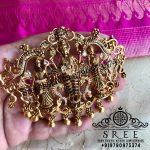 Attractive Silver Temple Pendant From Sree Exotic Silver Jewelleries