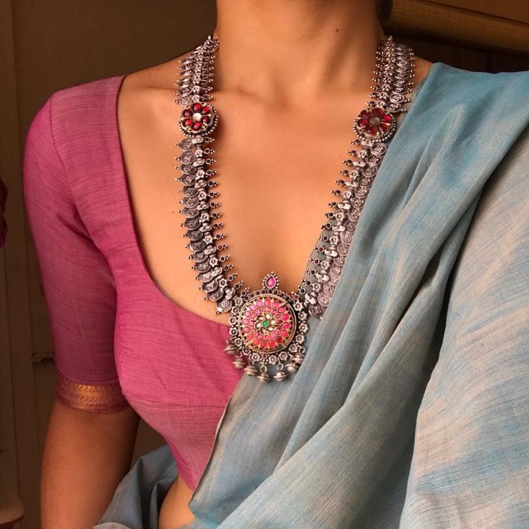 Dual Tone Kundan Necklace From Prade Jewels