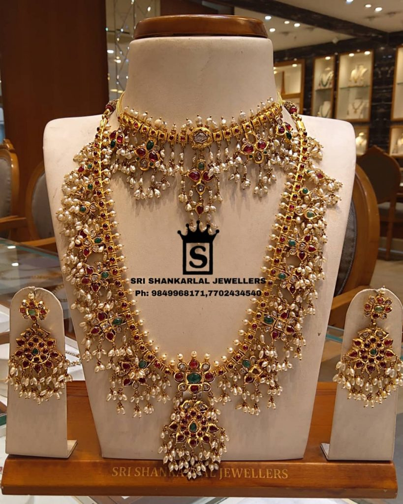 Exclusive Guttapusalu Haram Set From Sri Shankarlal Jewellers