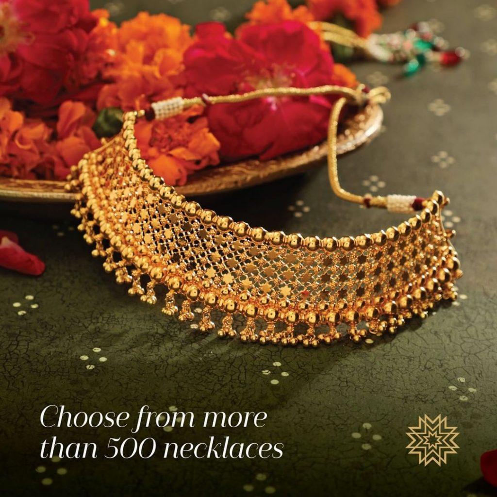 Beautiful Gold Choker From Manubhai Jewellers