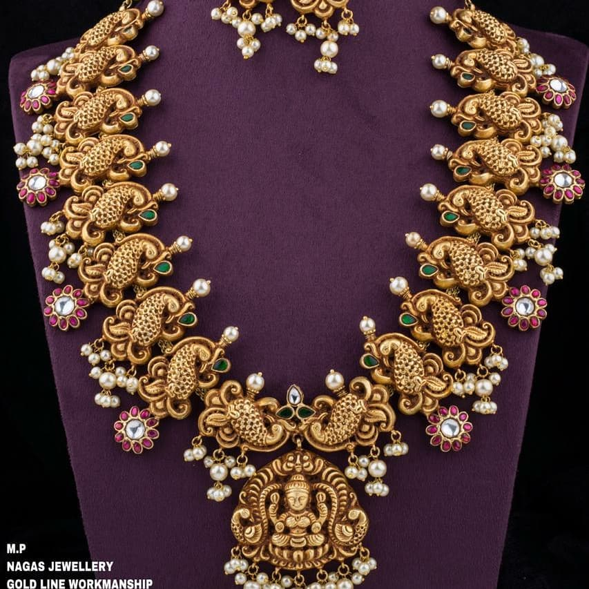 Elegant Long Necklace From 1 Gram Jewellery