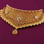 Ethnic Yellow Gold Choker From Krishna Jewellers