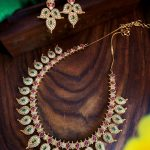 Gorgeous AD Stones Necklace Set From Aarvee Chennai