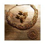 Heavy Designer Peacock Necklace From Happy Pique