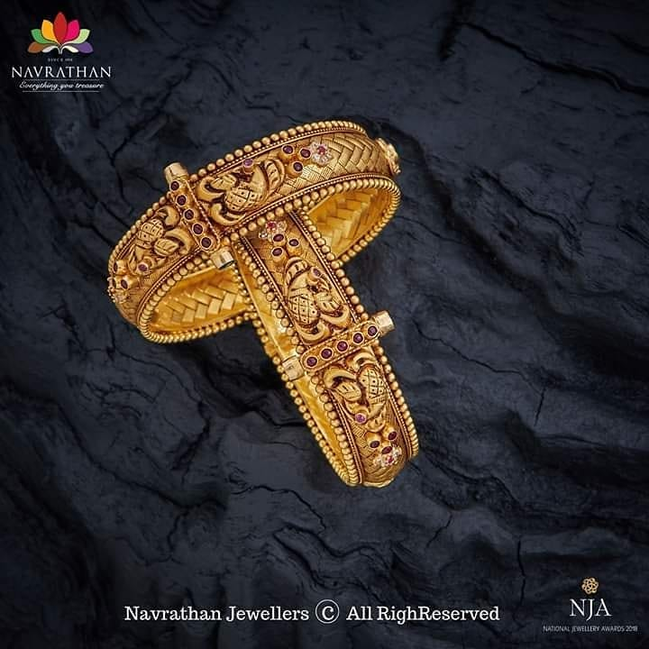 Luxury Gold Bangles From Navrathan1954