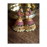 Matte finish Kemp Jhumkas From Happy Pique