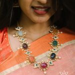 Stunning Diamond Navratna Necklace From Aarni By Shravani