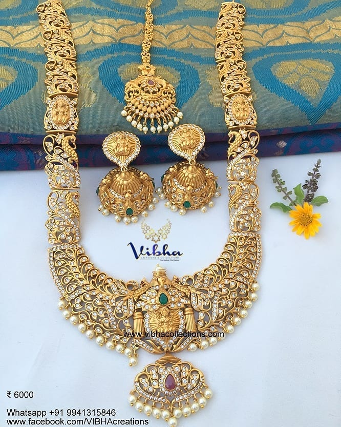 Alluring Long Necklace Set From Vibha Creations