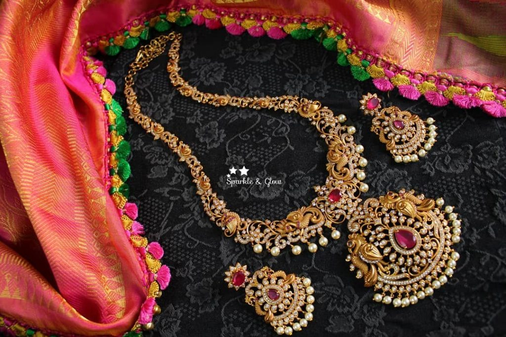 Exquisite CZ Matte Finish Necklace From Sparkles By Archana