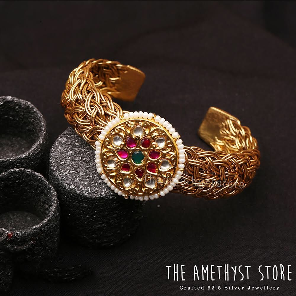 Precious Gold Plated Silver Bangle From The Amethyst Store