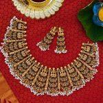Royal Semi Precious Necklace Set From Narayana Pearls