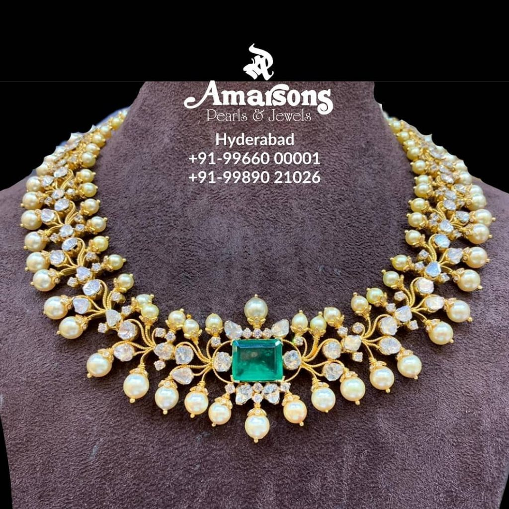 Unique Gold Necklace From Amarsons Jewellery