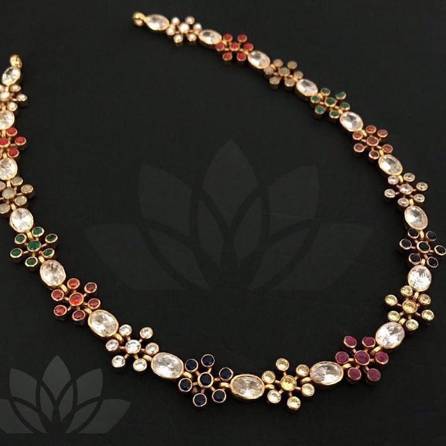 Pretty Silver Necklace From Prade Jewels