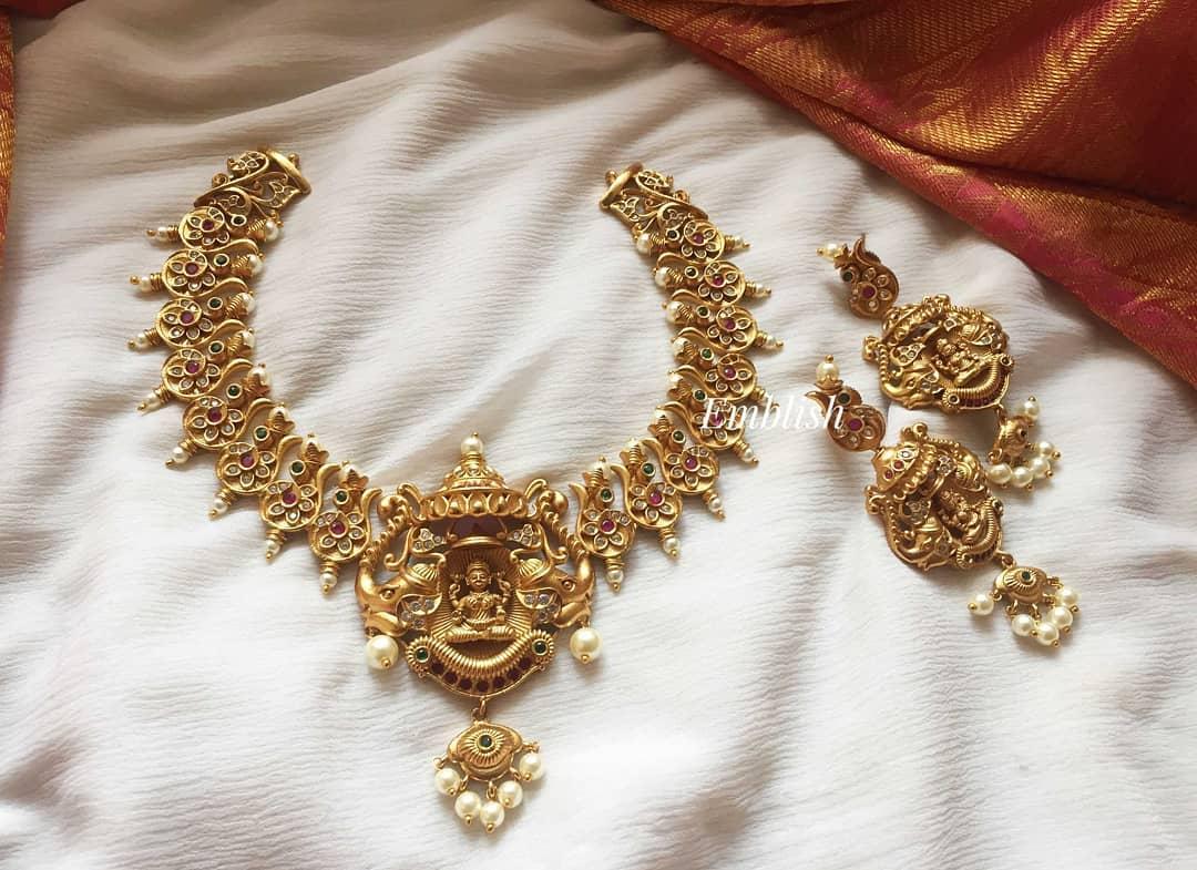 Grand Haathi Lakshmi Choker Set From Emblish Coimbatore