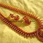 1 gram gold jewellery haram with matching jhumkas