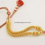 Gold ball beads necklace from PNG Jewellers