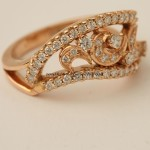 22K gold diamond ring