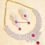 AD Necklace set with rubies
