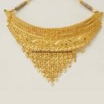 Gold Choker necklace model