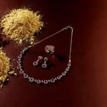 Stunning Diamond necklace set from Manubhai Jewellers