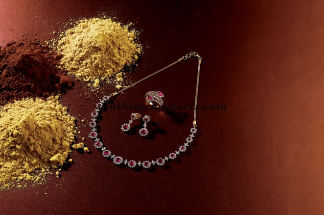 Diamond necklace designs from manubhai jewellers