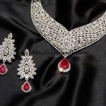 Diamond Necklace set from Gehna Jewellers