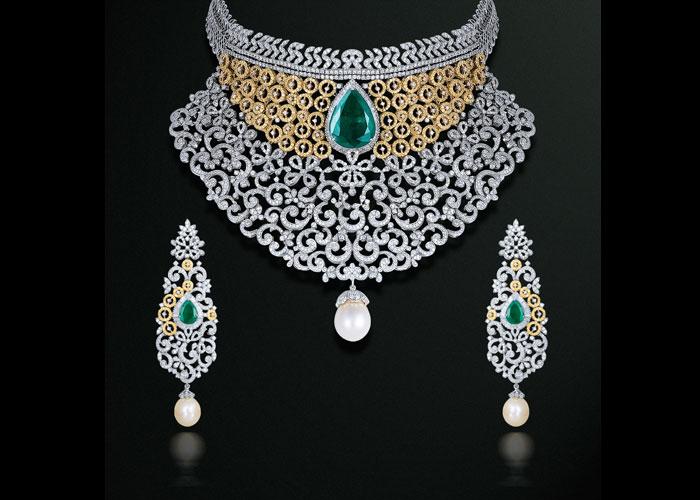Gehna diamond jewellery necklace set