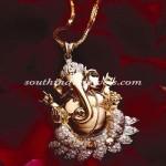 Gold Ganapathy Pendant design