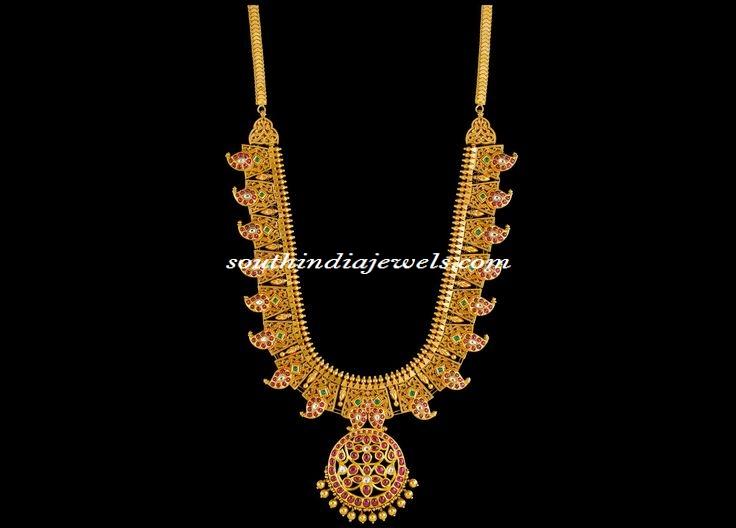 Kalayan Jewellers gold necklace design
