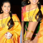 Actress Roja in Temple Jewellery