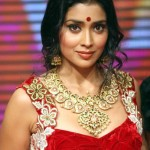 Actress Shriya wearing Huge Mango mala