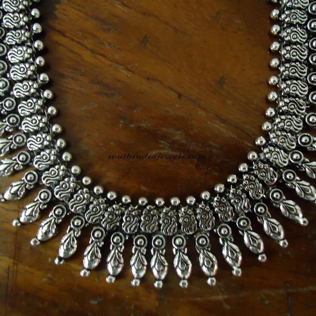 Silver Jewellery Oxidized necklace