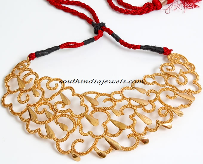 Trendy Choker Necklace From Png Jewellers South India Jewels