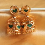 Gold plated jhumka earrings