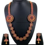 Imitation Jewellery – Floral pattern Long necklace set